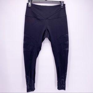 Zella Black Mesh Yoga Leggings Size Large